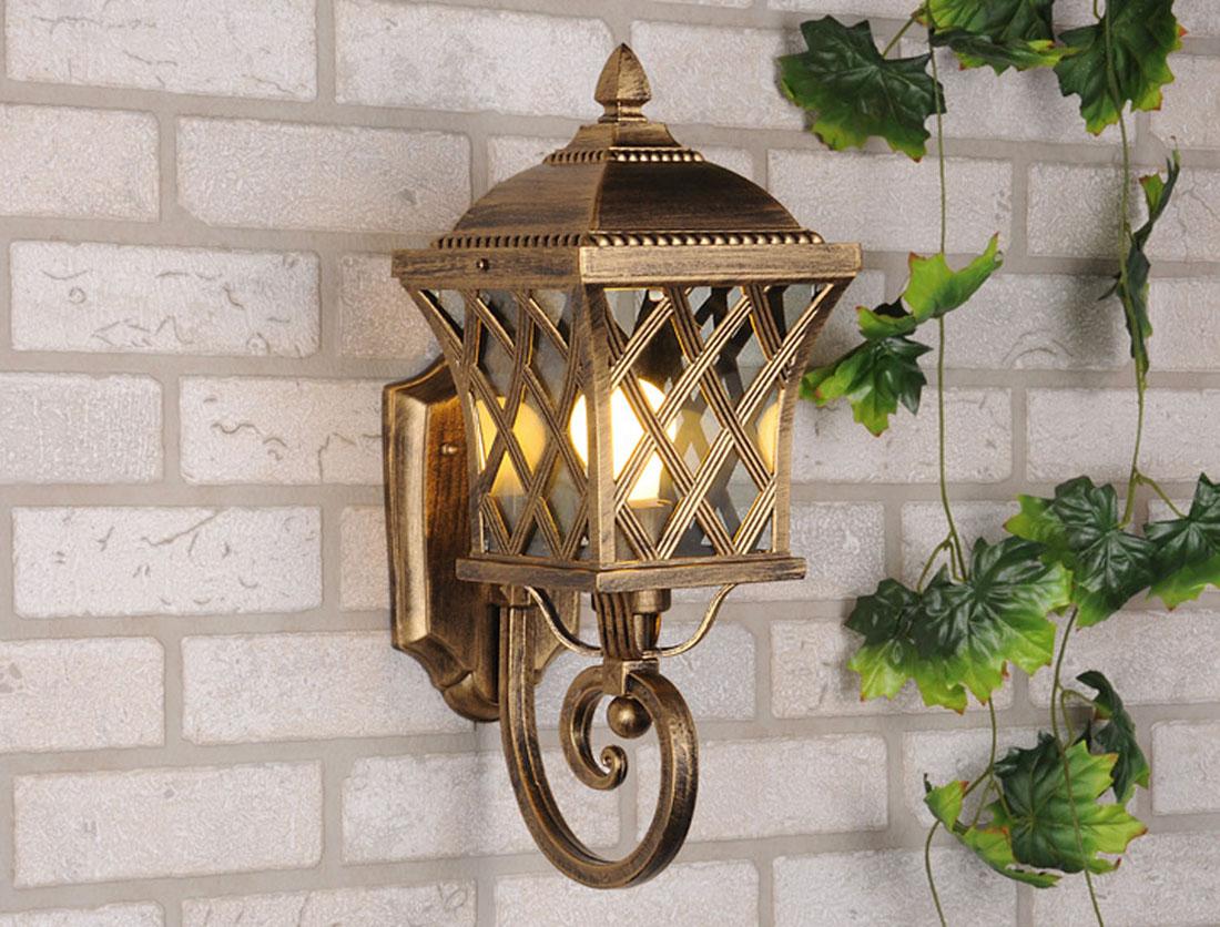 Уличный светильник Elektrostandard Cassiopeya U настенный черное золотоa025296