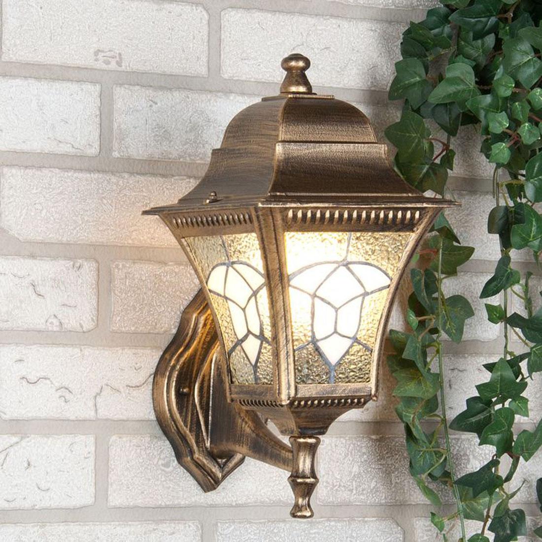 Уличный светильник Elektrostandard Altair настенный черное золотоa024999