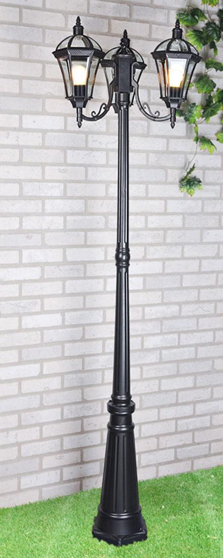 Уличный светильник Elektrostandard Capella F/3 черныйa025016