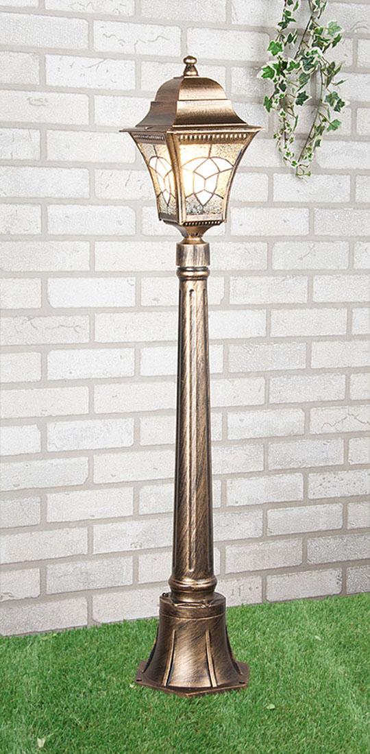 Уличный светильник Elektrostandard Altair F черное золотоa025022