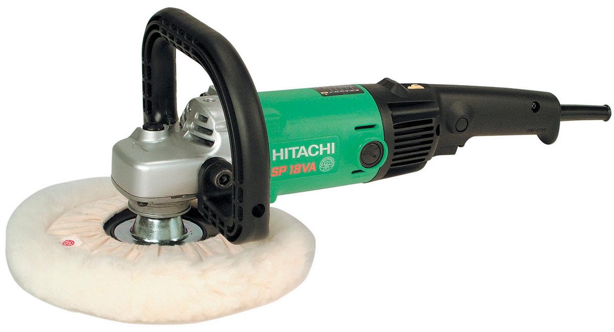 Hitachi SP18VA полировальная машина93135341Полировальная машина Hitachi SP18VA - это оборудование для удаления литников и финальной обработки литых деталей из стали, алюминия, бронзы и других металлов. Данный инструмент используется при шлифовке изделий, полученных путем газовой резки, а также сварных узлов. Машина также подходит для полирования мраморных и других поверхностей. Модель оборудована двигателем мощностью 1250 Вт. Меховая насадка может использоваться для полировки чувствительных поверхностей. Для регулирования частоты вращения насадки полировального оборудования применяется клавиша выключателя и специальное регулировочное колесико. Благодаря удобной рукоятке полировальной машины работать с ней комфортно и не утомительно. Инструмент весит всего 2,8 кг и отличается эргономичным дизайном, что обеспечивает простоту его использования, транспортировки и хранения. С помощью плавной кнопки пуска полировальное оборудование легко включается и выключается. Прочный металлический корпус быстро охлаждается,...