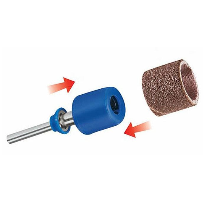 Набор принадлежностей Dremel 407 (2615S407JA)2615S407JAКомплект Dremel 407 из шлифовальной насадки EZ SpeedClic и двух шлифовальных лент идеально подходит для быстрого снятия материала. Держатель EZ SpeedClic позволяет быстро менять шлифовальную ленту. Диаметр хвостовика: 4,8 мм Рабочий диаметр: 3,2 мм