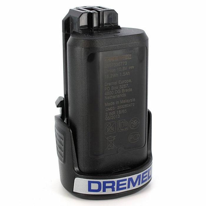 Аккумулятор Dremel 87526150875JAАккумулятор Dremel 875 - это литий-ионный аккумулятор на 10,8 В для беспроводного многофункционального инструмента Dremel 8200 и 8300 Multi-Max. Теперь с 1,5 Ач для увеличения емкости. Напряжение: 10.8 В. Емкость аккумулятора: 1.5 Ач. Тип аккумулятора: LiION.