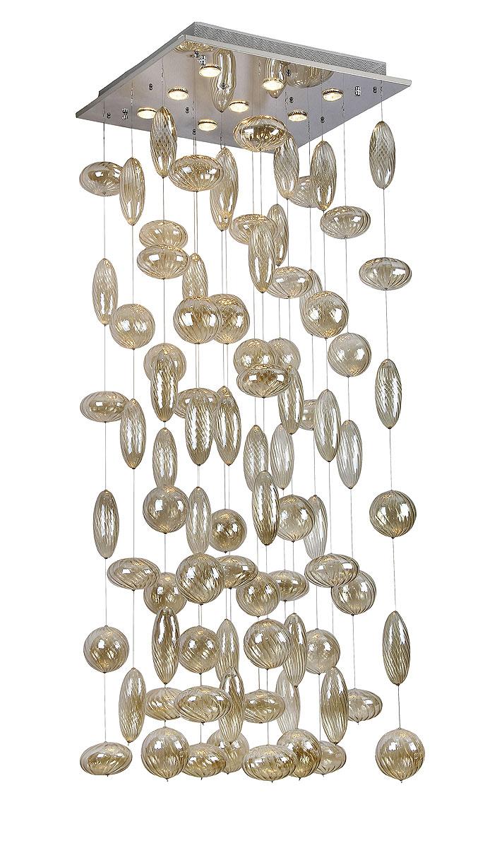 Подвесной светильник ST-LUCE SL625.003.09SL625.003.09Хром+Прозрачное стекло, GU10 9*50W 220V/50Hz