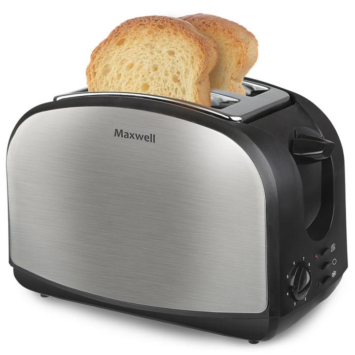 Maxwell MW-1502(ST) тостерMW-1502(ST)Тонкий, теплый, хрустящий кусочек хлеба - отличный завтрак на каждый день благодаря тостеру Maxwell MW-1502 (ST). Тосты питательны, необычайно вкусны, чтобы приготовить их, достаточно потратить всего 2-3 минуты. Разве это не идеальный завтрак? Прибор имеет эргономичный дизайн и компактные размеры. Среди особенностей следует отметить возможность регулировки поджаривания тостов в восьми режимах и прочный корпус тостера из нержавеющей стали. Обратите внимание: для того чтобы извлечь тосты, не нужно прикладывать усилия или подвергать себя риску ожогов. Все делается очень просто, удобно и быстро. Поджаривание 2-х ломтиков хлеба Поддон для крошек Кнопка отмены Термоизолированный корпус Экстра-подъём для маленьких ломтиков хлеба