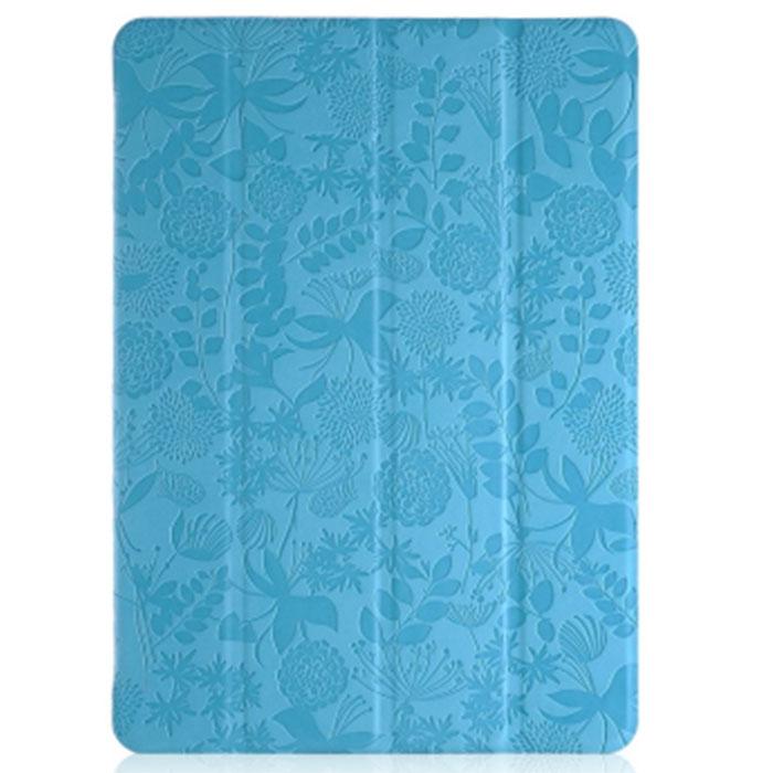 Gissar Flora чехол для Samsung Galaxy Note 10.1 2014 Edition, Light Blue22051Чехол Gissar Flora для Samsung Galaxy Note 10.1 2014 Edition надежно защищает ваш планшетный компьютер от механических повреждений и царапин. Благодаря продуманной конструкции все необходимые разъемы и кнопки планшета остаются в свободном доступе. Гибкая крышка, состоящая из 4 сегментов, превращает чехол в удобную подставку для устройства, которая обеспечивает пользователю комфорт во время чтения с экрана или просмотра фильмов. Чехол изготовлен из качественной PU кожи ярких расцветок с использованием растительных орнаментов в оформлении.