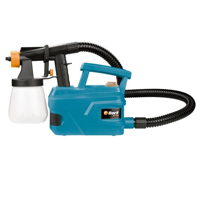 Распылитель электрический Bort BFP-50098291032Распылитель Bort BFP-500 оснащён технологией HVLP. Лёгкий рабочий узел и ремень для переноски обеспечивает простоту работы. Равномерно распределяет краску по поверхности, обладает высокой производительностью.