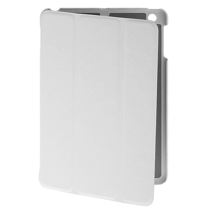 Tutti Frutti Smart Skin чехол для iPad mini/iPad mini Retina, WhiteTF101702Чехол Tutti Frutti Smart Skin для iPad mini/iPad mini Retina обеспечивает надежную защиту вашему планшетному компьютеру от механических повреждений и царапин. Все необходимые разъемы и кнопки планшета остаются в свободном доступе. Гибкая крышка, состоящая из 3 сегментов, превращает чехол в удобную подставку для устройства, которая обеспечивает пользователю комфорт во время чтения с экрана или просмотра фильмов. Чехол автоматически вводит планшетный компьютер в режим сна и выводит из него при открытии и закрытии.
