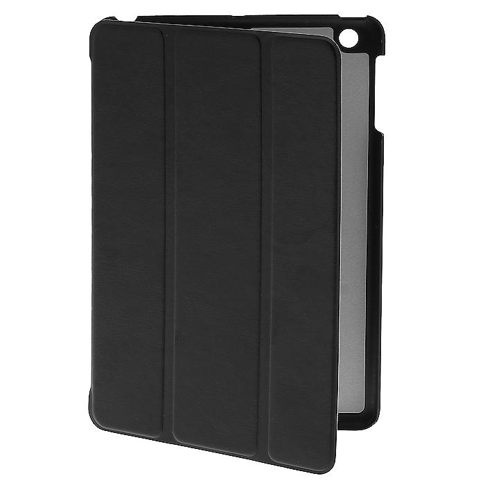 Tutti Frutti Smart Skin чехол для iPad mini/iPad mini Retina, BlackTF101701Чехол Tutti Frutti Smart Skin для iPad mini/iPad mini Retina обеспечивает надежную защиту вашему планшетному компьютеру от механических повреждений и царапин. Все необходимые разъемы и кнопки планшета остаются в свободном доступе. Гибкая крышка, состоящая из 3 сегментов, превращает чехол в удобную подставку для устройства, которая обеспечивает пользователю комфорт во время чтения с экрана или просмотра фильмов. Чехол автоматически вводит планшетный компьютер в режим сна и выводит из него при открытии и закрытии.
