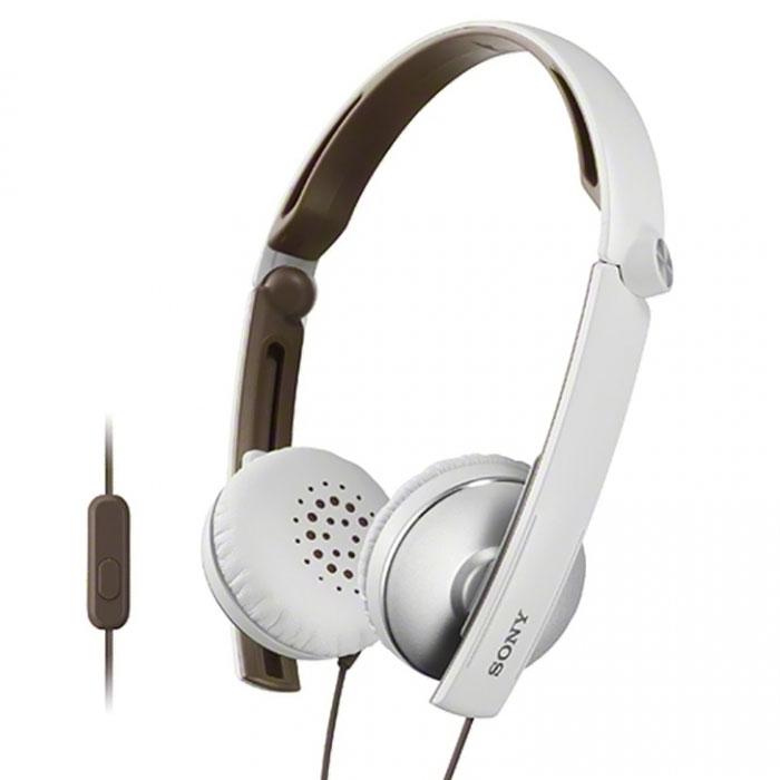 Sony MDR-S70APW, White наушники с гарнитуройMDR-S70APWНаушники Sony MDR-S70APB с гарнитурой для смартфонов. Не упустите ни одной детали звучания, где бы Вы ни находились — при необходимости эти складные и компактные наушники можно легко спрятать в сумку. Вы также можете использовать их для приема звонков с помощью ПДУ и микрофона. Диапазон воспроизводимых частот от 8 Гц до 24 кГц обеспечивает четкость высоких и низких частот. 30-миллиметровые мембраны с динамичными басами позволят услышать музыку такой, какой ее задумал автор. Эластичные подушечки из искусственной кожи надежно держатся на ушах, а внутренняя сторона обода покрыта мягкой резиной для дополнительного комфорта.