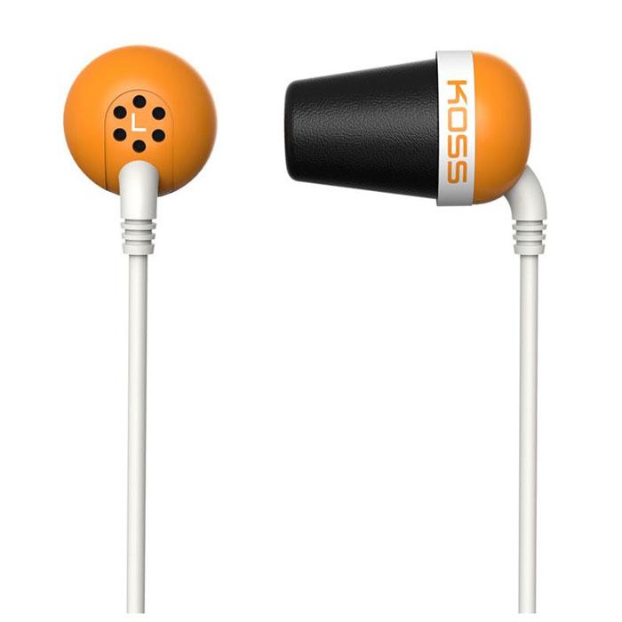 Koss The Plug, Orange наушники15116977Модель Koss The Plug – легендарные вставные наушники, первые в своем роде. Они обеспечивают исключительно точное воспроизведение звука, глубокие басы уже с 10 Гц (!) и потрясающую шумоизоляцию, которую можно найти только в полноразмерных закрытых наушниках. Koss The Plug – компактные и легкие вставки, комфортные в ношении. Они идеально подходят для портативного аудио, особенно для прослушивания музыки на улице и в метро.