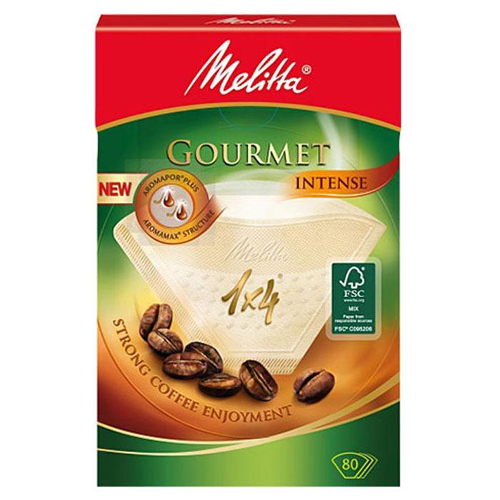 Melitta Gourmet Intence фильтры для заваривания кофе, 1х4/80