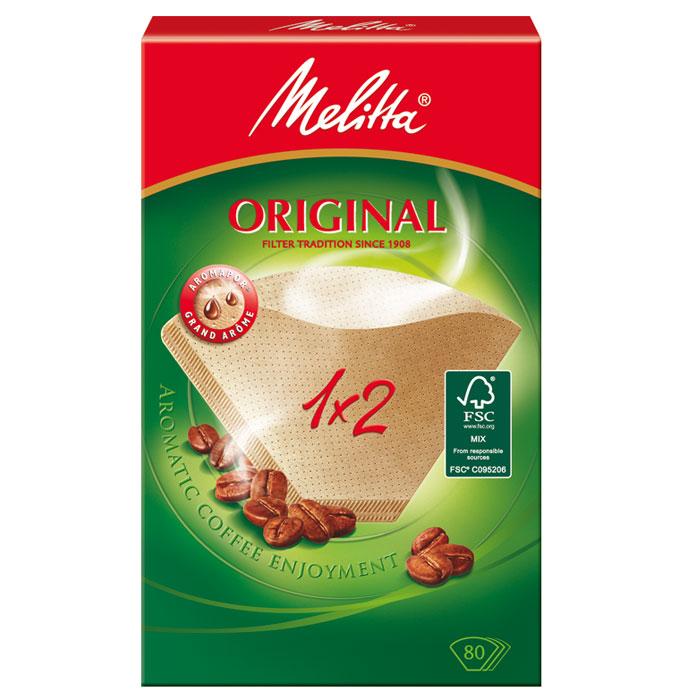 Melitta Original, Brown фильтры для заваривания кофе, 1х2/80