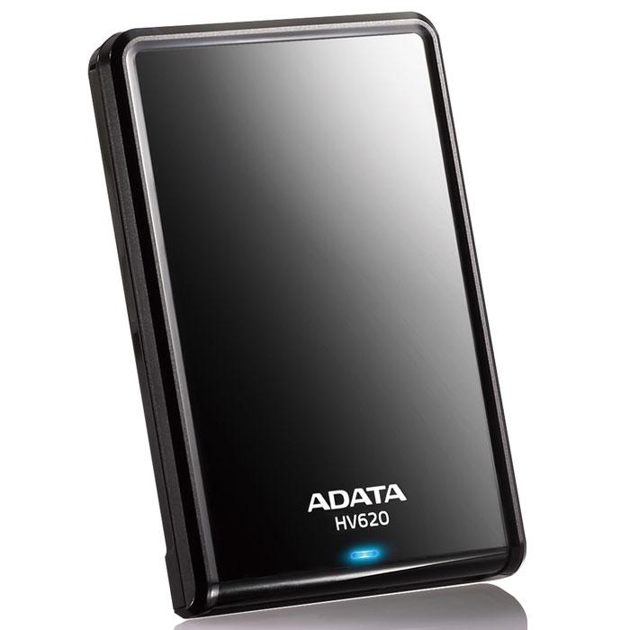 ADATA HV620 2TB USB3.0, Black внешний жесткий дискAHV620-2TU3-CBKВнешний жесткий диск ADATA HV620 имеет емкость хранения до 2 терабайт. Его гладкий глянцевый корпус приятен на вид и легко помещается в руке. Сверхскоростной интерфейс спецификации USB 3.0 SuperSpeed обеспечивает высокое быстродействие и питание устройства, требуемые для традиционного хранения и поддержки программ резервной архивации данных. Выпуклые кромки по краям накопителя защищают поверхность от царапин, когда диск находится в горизонтальном положении. Изящные контуры и гладкая светоотражающая поверхность диска HV620 подчеркивают тонкий и элегантный внешний вид устройства. Он идеально подойдет всем, кто желает поддерживать ауру профессионализма и технического совершенства. Яркий синий светодиод позволяет узнать, что данные считываются или записываются на HV620. Это поможет вам устранить разъединение во время операций чтения/записи. Интерфейс связи USB 3.0 жесткого диска HV620 обеспечивает скорости чтения/записи до 90 мегабайт в секунду. По сравнению с USB...