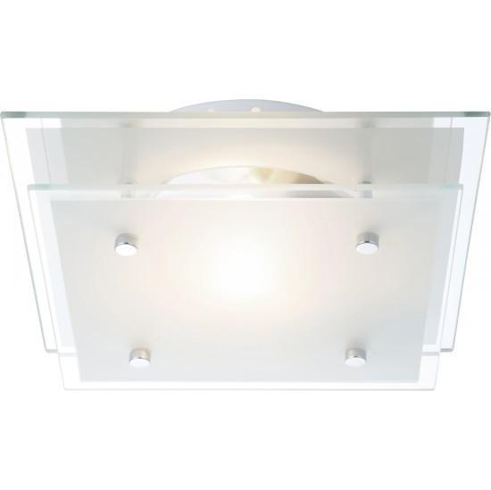 48168 Потолочный светильник INDI48168Светильник Globo 48168 из серии INDI – стильный квадратный настенно-потолочный накладной светильник в стиле техно на металлической матовой основе со стеклянным матовым плафоном