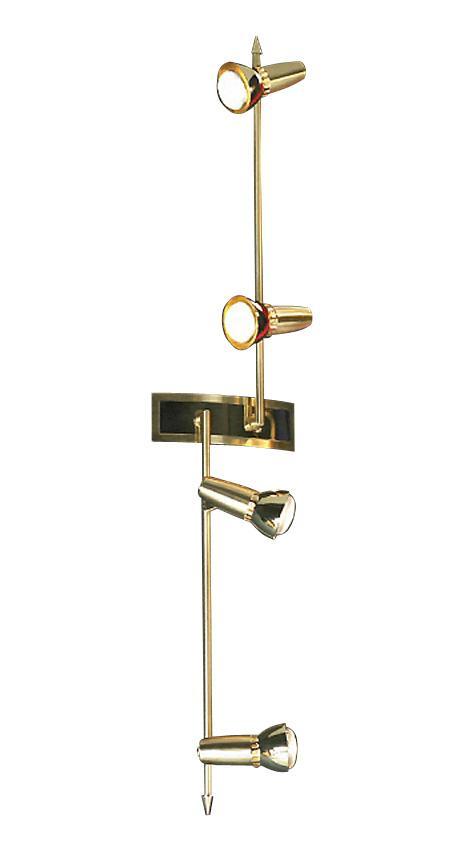 Настенно-потолочный светильник Lussole Aprilia LSL-1409 04LSL-1409-04Споты – это один или несколько светильников, расположенных на одном основании, и свободно крепящиеся не только на потолок, но и на стену. Главная особенность спотов в том, что они могут поворачиваться относительно своего основания в разные стороны, обеспечивая более эффективное и целенаправленное освещение различных зон. Споты позволяют создать «зональное» освещение разных частей комнаты. Настенные и потолочные споты на кухне одновременно хорошо осветят и зону приготовления пищи, и обеденную зону.