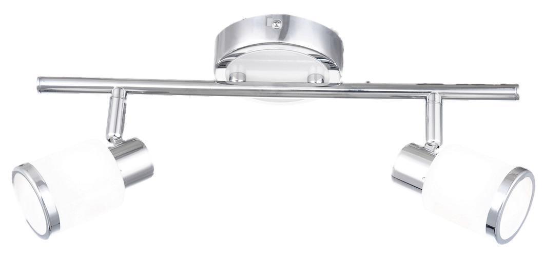 56030-2 Настенно-потолочный светильник PLATOON56030-22хG9 33W Материал: Арматура: Металл/Плафон: Стекло Цвет: Арматура: Серебристый/Плафон: Белый Размер: 36х10х14