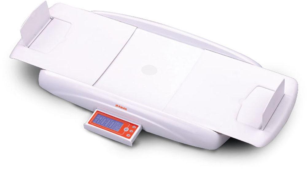Цифровые детские весы Maman SBBC 213SBBC 213Детские электронные весы с функцией измерения роста ребенка. Значения веса и роста выводятся на цифровой дисплей. Функция «Тарирование» - взвешивание малыша без учета веса пеленки. Функция «Стабилизация» - взвешивание, если малыш лежит неспокойно. Функция «Измерение роста» - встроенный электронный ростомер с отображением результата измерения на выдвижном цифровом экране. Возможность вычета веса одежды Предупреждение о превышении веса Автоматическое отключение 3 варианта единиц измерения: - фунт (lb) - стоун (st) - килограмм (kg) Голубая подсветка дисплея Выдвижная панель с дисплеем и кнопками управления Индикация низкого заряда батареи Противоскользящие ножки