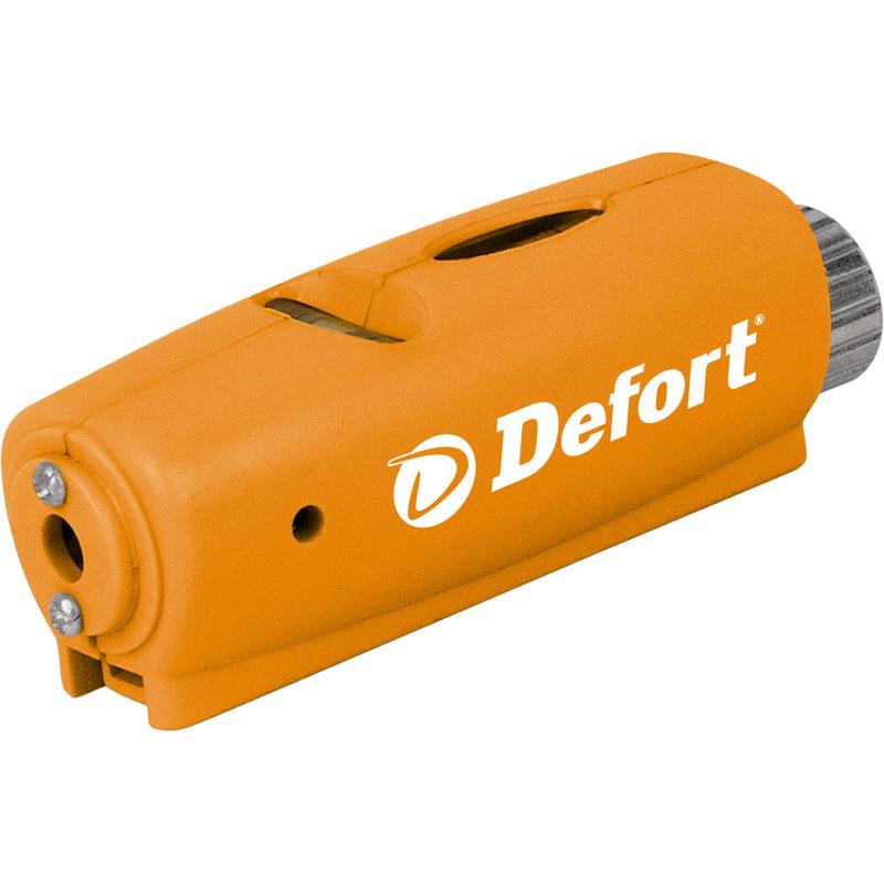 Уровень лазерный Defort DLL-998293609Уровень лазерный Defort DLL-9 - компактный строительный уровень с лазерной направляющей. Прибор строит на стене горизонталь, что упростит отделочные работы. Дальность действия - 9 метров, чего вполне достаточно для работы в квартире или на даче. Класс лазера - 2. Преимущества модели: - компактные размеры позволяют поместить прибор в кармане; - лазерная направляющая для максимально комфортной работы; - встроенные магниты для крепления на металлической поверхности; - небольшие острые шипы на обратной стороне магнита для закрепления на гипсокартоне или дереве; - горизонтальный и вертикальный уровни на верхней стороне корпуса.