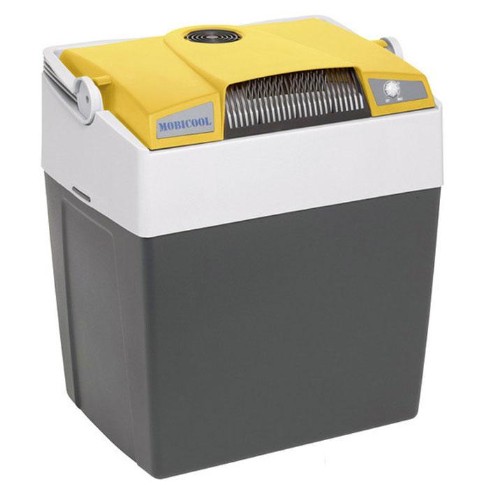 MOBICOOL G30, Yellow Grey термоэлектрический холодильник9103500790Термоэлектрический мобильный холодильник Mobicool G30 предназначен для сохранности продуктов питания и напитков в летний зной. Объем этого бытового прибора равен 29 литрам. Сумка холодильник охлаждает до 18°С ниже окружающей температуры. Высота сумки холодильника позволяет разместить бутылки объемом 2 литра. Этот холодильник можно использовать как в домашних условиях, так и в автомобиле благодаря наличию двух способов подключения (бортовая сеть автомобиля 12 В и сеть 220 В). Удобная ручка для переноски Уровень шума: 39 дБ Потребление энергии: до 48 Вт при 12 В