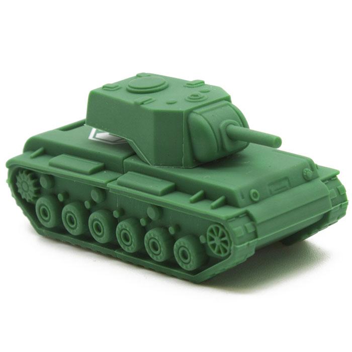 Kingston WOT KV-1 DT-TANK/32GB USB-флэш накопительDT-TANK/32GBФлеш-накопитель Kingston DataTraveler Tank WoT KV-1 предназначен для записи, чтения и хранения данных. Устройство имеет оригинальный дизайн: корпус из резинового материала выполнен в виде танка КВ-1, на котором имеется логотип игры «World Of Tanks». Флеш-накопитель выпущен ограниченным тиражом. В каждой упаковке имеется код, который является инвайт кодом для новых игроков и бонус кодом для игроков, которые провели уже немало времени в этой онлайн-игре.