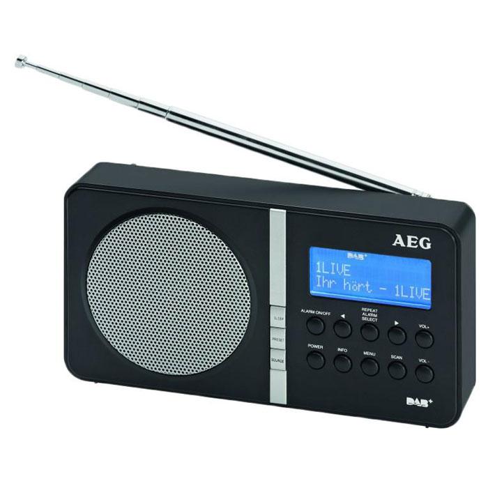 AEG DAB 4138, Black радиоприемник портативныйDAB 4138 blackAEG DAB 4138 - это портативный радиоприёмник с диапазоном FM и DAB. Данная модель имеет стильный дизайн. Высокочувствительный приём обеспечивает работу устройства практически в любых местностях. 20 радиостанций и удобное управление позволяют легко настроиться на любимую станцию. Уверенный прием цифровых радиостанций 2 строчный LCD-дисплей с отображением дополнительной информации 20 каналов для FM