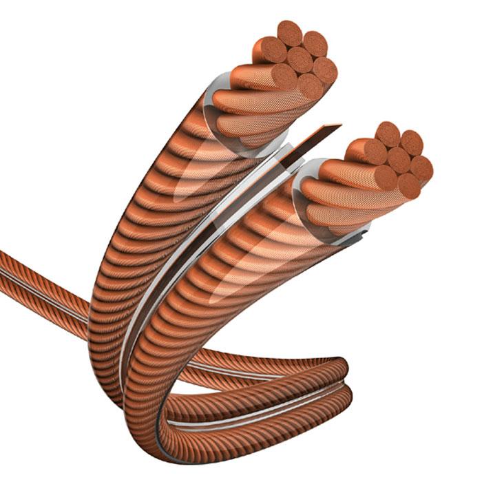 Inakustik Exzellenz MSR акустический кабель, катушка 100 м (0060242)4001985725014Акустический кабель Inakustik Exzellenz MSR изготовлен с применением легендарной технологии MSR (magnetic current reflector). Из-за так называемого эффекта близости в прилежащих проводниках наблюдается неравномерное распределение электрического тока. Технология MSR заключается в использовании тонкой медной полоски, расположенной между проводниками, которая значительно уменьшает эффект близости, и электрический ток распределяется более равномерно. Сечение провода: 2х2.5 мм2 Проводники из бескислородной меди Тонкая скрутка (диаметр жилы 0,07 мм) Высокая гибкость Кабель на катушке