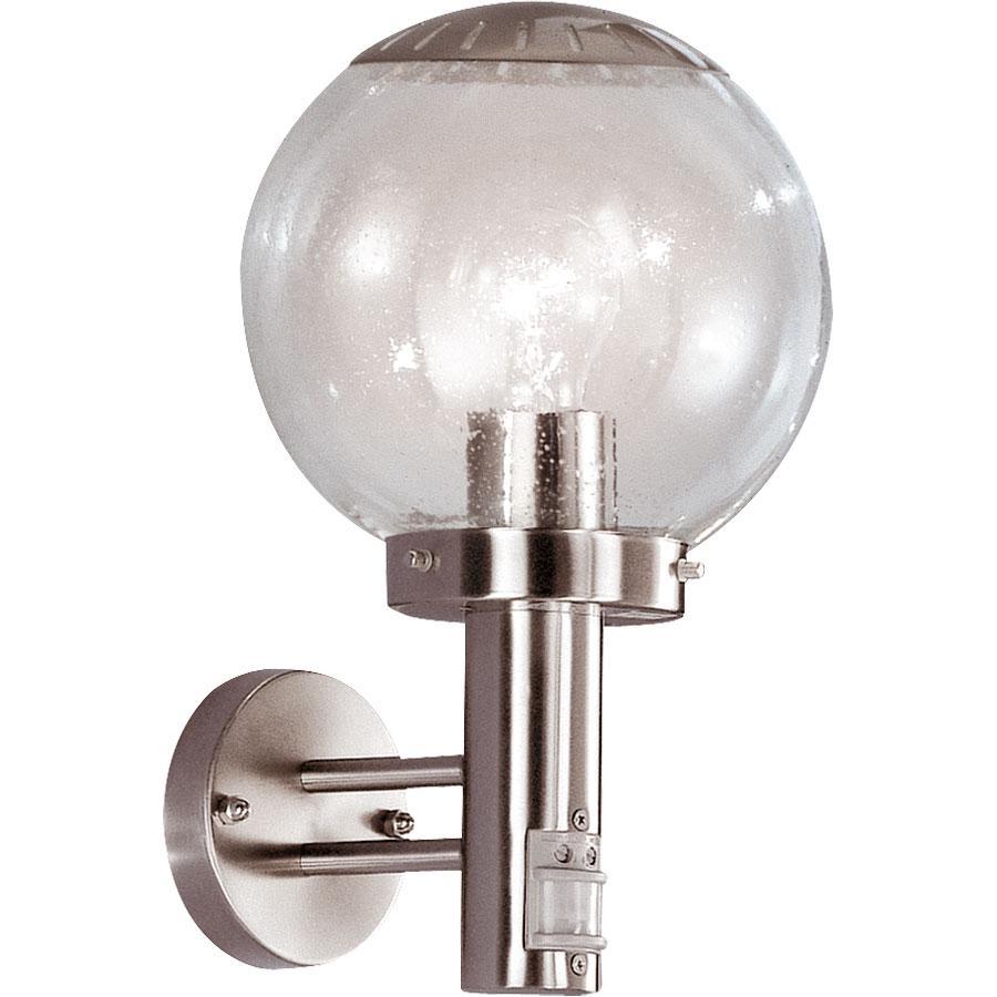 Светильник уличный Globo. 3180S3180SХарактеристики: Материал: стекло, металл. Количество ламп: 1 шт (не входит в комплект). Размеры светильника: высота 35 см, диаметр плафона 20 см, удаленность от стены 24 см.