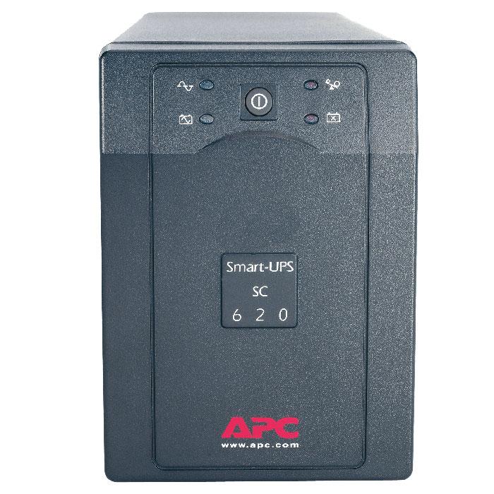 APC SC620I Smart-UPS 620VA ИБПSC620IAPC SC620I Smart-UPS идеально подходит для небольших и средних компаний, стремящихся защитить свои серверы начального уровня и сетевое оборудование от нарушений и отключений электропитания. Отличительными чертами APC SC620I Smart-UPS являются батареи с возможностью замены в горячем режиме, время автономной работы сетевого уровня и встроенная защита линий передачи данных.