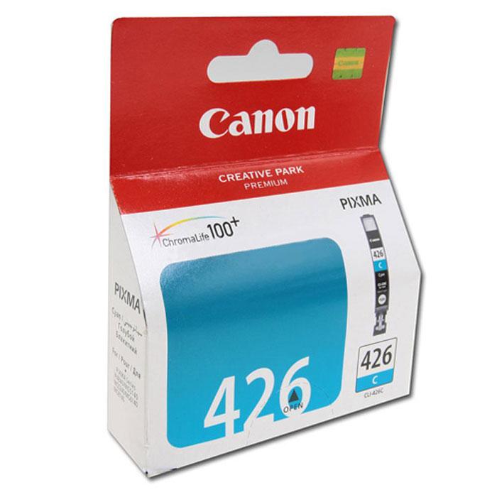 Canon CLI-426C картридж, Light Blue4557B001Картридж с чернилами Canon CLI-426 предназначен для струйных принтеров Canon. Ресурс чернильниц сильно зависит от содержания печатаемого документа и установленного качества печати.