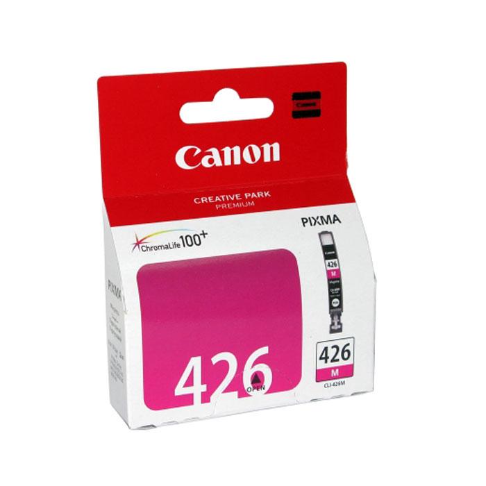 Canon CLI-426M картридж, Purple4558B001Картридж с чернилами Canon CLI-426 предназначен для струйных принтеров Canon. Ресурс чернильниц сильно зависит от содержания печатаемого документа и установленного качества печати. Емкость: 9 мл Тип чернил: водорастворимые