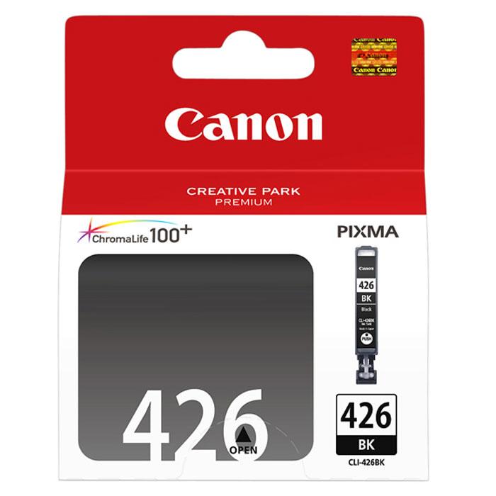 Canon CLI-426BK картридж, Black4556B001Картридж с чернилами Canon CLI-426 предназначен для струйных принтеров Canon. Ресурс чернильниц сильно зависит от содержания печатаемого документа и установленного качества печати.