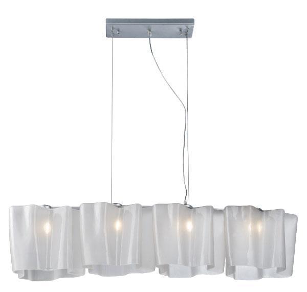 Подвесной светильник ST Luce SL117 503 04SL117.503.04Светильник (Люстра) от итальянской фабрики ST Luce — синоним непревзойденной роскоши. Данная модель является отличным примером сочетания изысканности и шикарности. Плафон - глянцевый белый с волнистыми полосками.