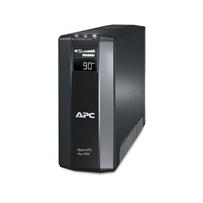 APC BR900G-RS Back-UPS Pro 900VA ИБПBR900G-RSЛинейно-интерактивный ИБП APC BR900G-RS Back-UPS Pro 900VA обеспечивает стабилизацию напряжения на выходе, при этом частоты на входе и выходе совпадают. Основная розетка определяет, когда подключенный к ней компьютер выключается или переводится в режим ожидания или «спящий» режим и отключает питание неиспользуемых периферийных устройств, подключенных к зависимым розеткам, тем самым сберегая электроэнергию и деньги пользователей. Может использоваться для защиты техники в небольших офисах.