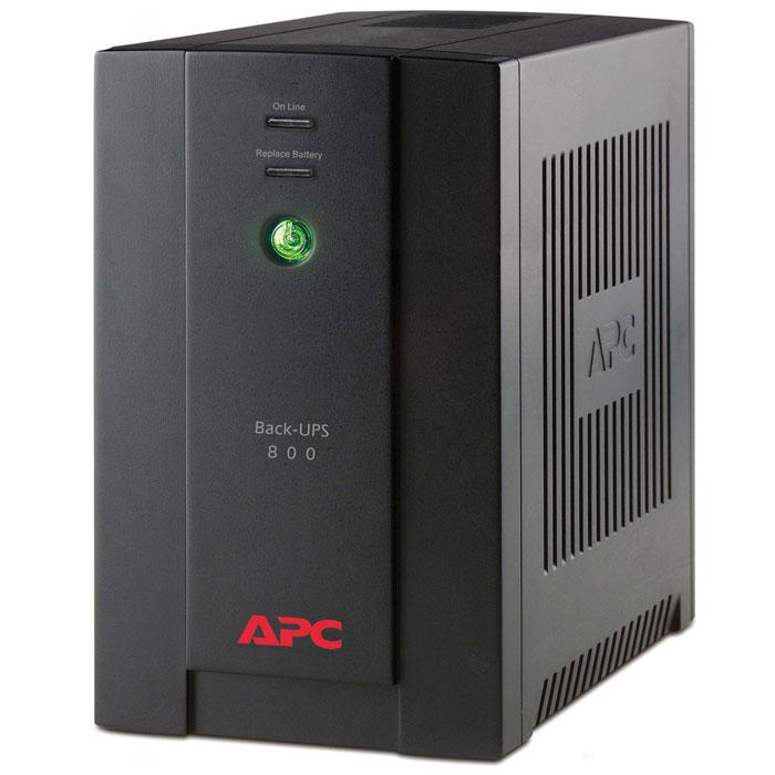 APC BX800CI-RS Back-UPS 800VA ИБП с евророзеткамиBX800CI-RSAPC BX800CI-RS Back-UPS 800VA - прекрасное решение для домашнего использования и офисных нужд. Стабилизация выходного напряжения ИБП выполнена так, что частота и напряжение на выходе определяются частотой и напряжением на входе. Выходная мощность данной модели составляет 480 Вт.