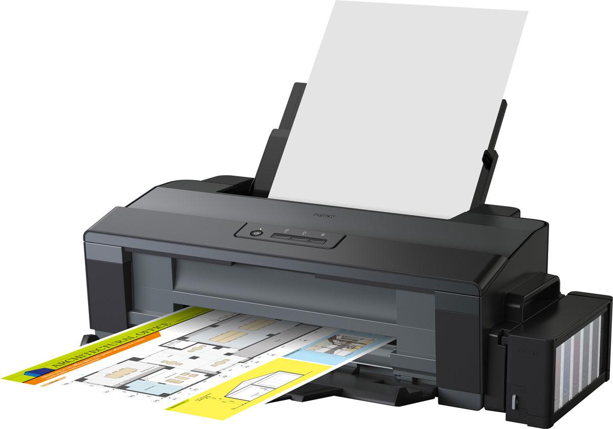Epson L1300 принтер А3 форматаC11CD81402Принтер А3+ формата с рекордно низкой себестоимостью печати Фабрика печати Epson L1300 – Это четырехцветный принтер Формата А3+ с рекордно низкой себестоимостью печати. Данный принтер идеально подходит для экономичной печати документов, цветных изображений, докладов, веб-страниц, фотографий и многого другого. Благодаря системе безкартриджной печати себестоимость одного документа Формата А4 составляет 20 коп.*, а стартового набора чернил хватит примерно на 12800 отпечатков**. Что позволяет добиться сенсационно низкой стоимости владения, намного ниже, чем у любого принтера, использующего картриджи. Система чернильных емкостей с двумя отсеками для черных чернил В Epson L1300 используются чернильные емкости с двумя отсеками для черных чернил, что позволяет подавать печатающую головку в 2 раза больше черных чернил и, соответственно, значительно увеличить скорость печати. Кроме того Чернильные емкости вмещают по 70 мл. черных чернил, что позволяет сократить...