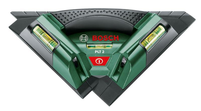 Лазерный уровень/нивелир Bosch PLT 2 (0603664020)Plt 2Лазерный нивелир Bosch PLT 2 поможет Вам создать геометрический узор, идеально точные ряды кафельной плитки, ровно повесить украшения и картины. Два ярких лазерных луча расположенные под углом 90° Настенное крепление c магнитным креплением 3 пузырьковых уровня Прорезиненные ручки Угломер с 5° отметками