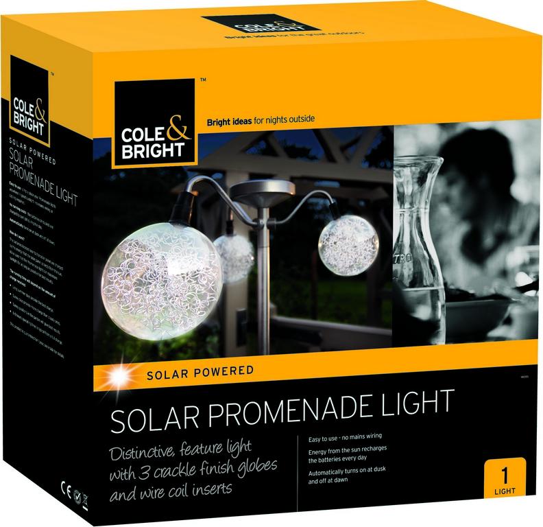 Уличный светильник Gardman Promenade18093Светильник (3 элемента) на солнечной батарее Promenade 120 * 10см