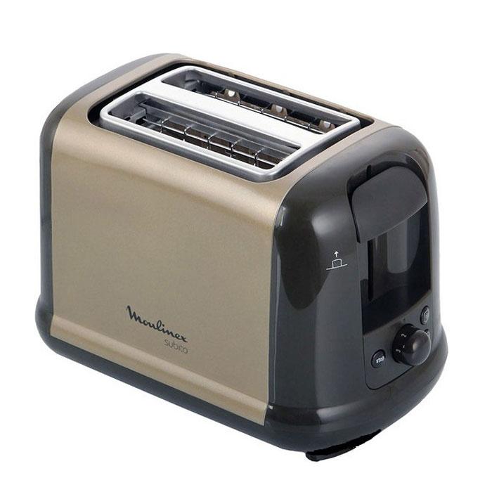Moulinex LT260A30 Subito III тостерLT260A30Тостер Moulinex LT260A30 на 2 отделения. Имеет возможность автоцентрирования тостов, 2 режима работы - подогрев и разморозка.