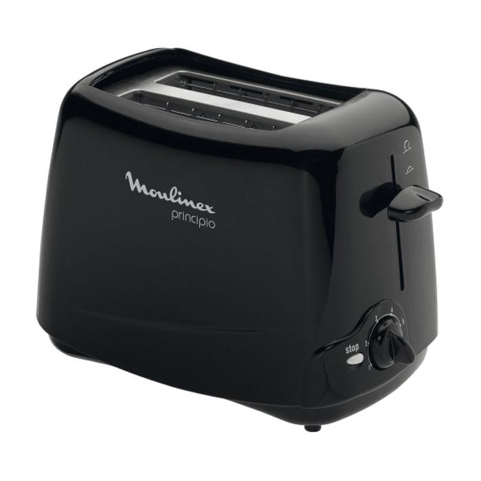 Moulinex TT110232 Тprincipio, Black тостерTT110232Тостер Moulinex TT110232 поджаривает аппетитные тосты к завтраку. Прибор обладает возможностью регулировки степени поджаривания. Привлекательный дизайн и компактная форма позволят тостеру вписаться в интерьер любой кухни.
