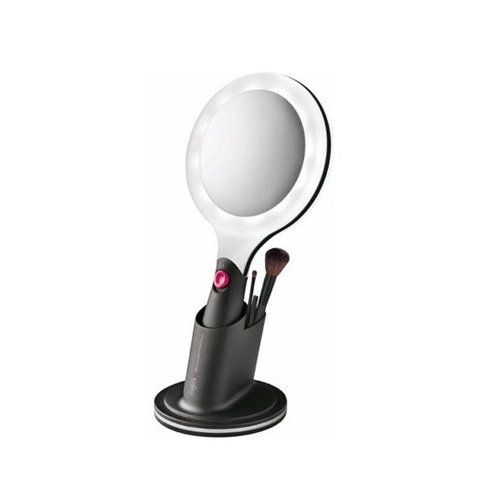 Rowenta MR4512F0 зеркало на подставкеMR4512F0Rowenta MR4512F0 - зеркало на подставке с кисточками для макияжа. Вторая сторона зеркала с увеличением 1х1, 1х3, также зеркало оснащено LED-подсветкой. 3 кисточки для макияжа Диаметр 10 см