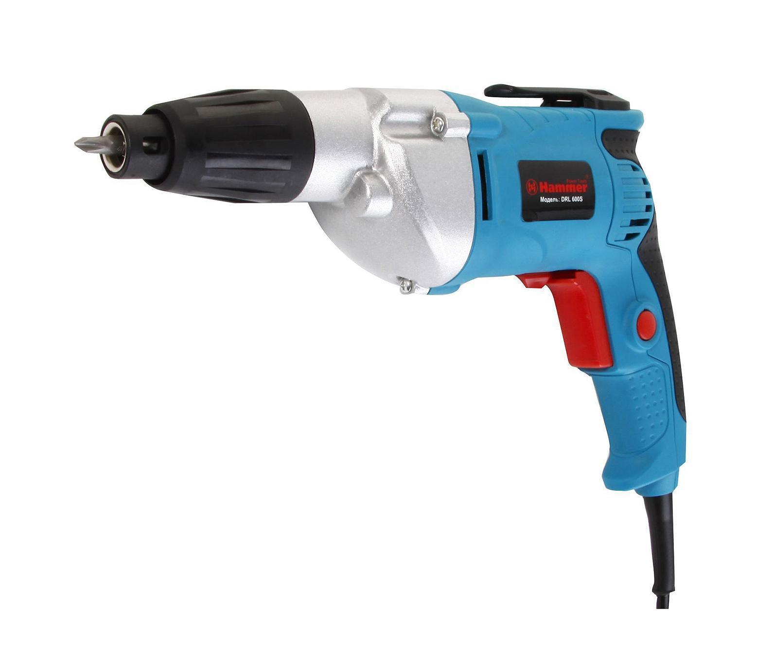 Hammer DRL600S Premium шуруповертDRL600S Premium шуруповертШуруповерт HAMMER DRL600S PREMIUM 500Вт 1/4 0-1600об/мин