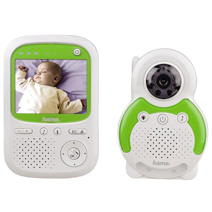 Hama BM150, White видеоняня113997Видеоняня Hama BM150 - это устройство для видеонаблюдения за детьми или лицами, нуждающимися в уходе, больными или пожилыми людьми. Режим ожидания позволяет экономить энергию: если в течение длительного периода времени не слышен звук, устройство автоматически переключается в режим ожидания. В случае плохих условий приема сигнала на приемнике срабатывает звуковое предупреждение. Блок ребенка оснащен 8 инфракрасными лампами для сьемки в темноте. Если фотодатчик определит низкий уровень освещенности, прибор автоматически включает ИК-лампы, и на дисплее блока родителей появляется черно-белое изображение, транслируемое видеокамерой блока ребенка. Чтобы успокоить ребенка, можно воспользоваться громкоговорящей связью. Радиосвязь между блоками односторонняя, поэтому, чтобы услышать ребенка, необходимо отпустить кнопку на блоке родителей. На задней панели блока ребенка находится датчик термометра, данные с которого отображаются в верхней области дисплея блока...
