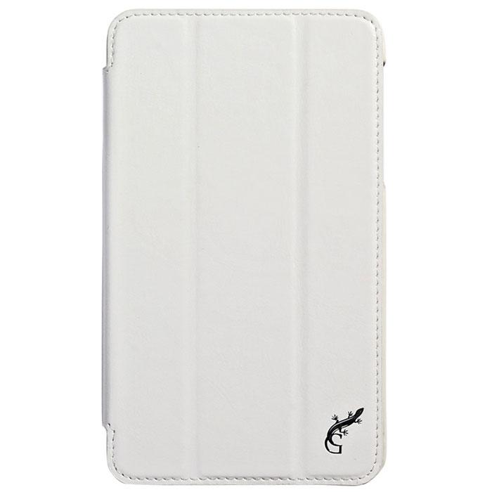 G-case Slim Premium чехол для Samsung Galaxy Tab 4 7.0, WhiteGG-342Стильный чехол-книжка G-case Slim Premium для Samsung Galaxy Tab 4 7.0 представляет собой очень полезный аксессуар,основная функция которого защищать планшет от неблагоприятных внешних воздействий. Он выполнен в очень элегантном стиле из высококачественной кожи. Чехол поможет при ударах и падениях, смягчая удары, не позволяя образовываться на корпусе царапинам и потертостям. Он идеально повторяет формы планшета и при этом надежно защищает каждую грань устройства. Все разъемы остаются свободны, а доступ к экрану осуществляется легким движением руки. Кроме того, чехол G-Case Slim Premium можно использовать в качестве двухпозиционной подставки.