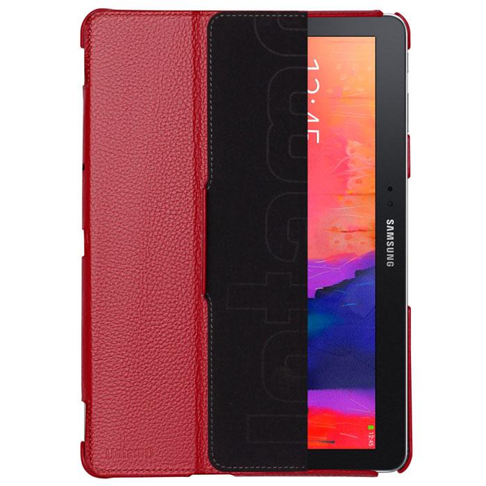 Untamo Alto чехол для Samsung Galaxy Tab Pro 10.1, RedUALSGTPRO10REDЧехол Untamo Alto для Samsung Galaxy Tab Pro 10.1 изготовлен из натуральной кожи. Он защищает устройство от царапин и повреждений. Все кнопки и разъемы доступны без снятия чехла. Модель из тонкой кожи четко повторяет контуры устройства, не утяжеляя его. Подкладка из микрофибры обеспечивает дополнительную защиту планшетного компьютера. Чехол позволяет устанавливать устройство в двух положениях - для печати и просмотра.