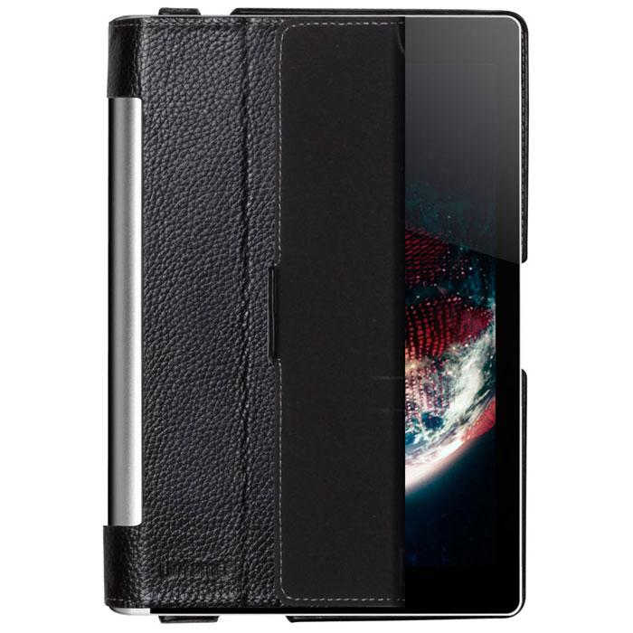 Untamo Alto чехол для Lenovo Yoga Tablet 8, BlackUALLENY8BLЧехол Untamo Alto для Lenovo Yoga Tablet 8 изготовлен из натуральной кожи. Он защищает устройство от царапин и повреждений. Все кнопки и разъемы доступны без снятия чехла. Модель из тонкой кожи четко повторяет контуры устройства, не утяжеляя его. Внутренняя подкладка из мягкой ткани обеспечивает дополнительную защиту планшетного компьютера. Чехол позволяет устанавливать устройство в двух положениях - для печати и просмотра.