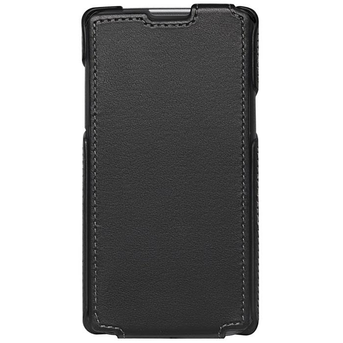 Untamo Accentika Flip Case чехол для LG L70, BlackUACKFLGL70BLСверхтонкий чехол из эко кожи и контрастной строчкой по краю Untamo Accentika Flip Case для LG L70. Чехол плотно прилегает к смартфону, формируя жесткий каркас с поверхностью матовой эко-кожи. Подкладка из микрофибры обеспечивает дополнительную защиту устройства от механических повреждений.