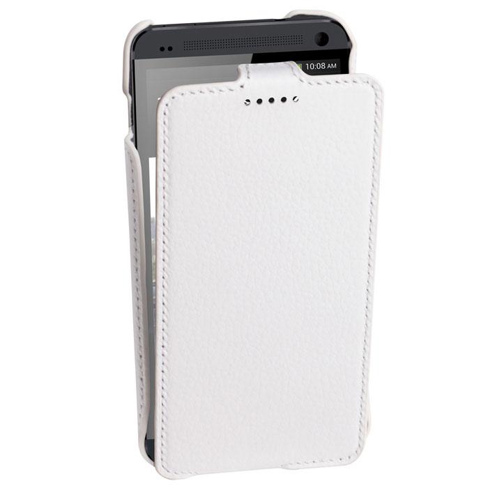 Untamo Alto Flip Case чехол для HTC One Dual Sim, WhiteUALFHTC12WHСверхтонкий чехол из натуральной кожи с четким рисунком и контрастной строчкой по краю Untamo Alto Flip Case для HTC One Dual Sim. Чехол плотно прилегает к смартфону, формируя жесткий каркас с поверхностью из мягкой кожи высочайшего качества. Подкладка из микрофибры обеспечивает дополнительную защиту устройства.