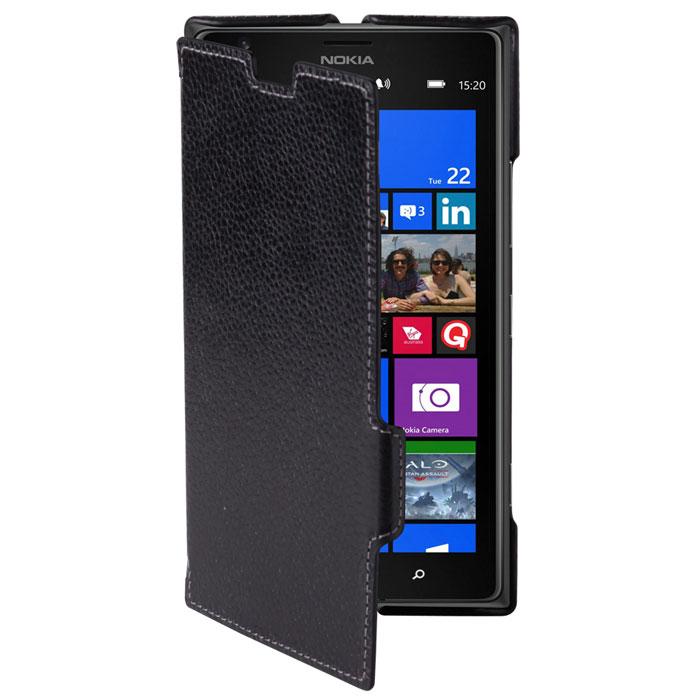 Untamo Alto Book Case чехол для Nokia Lumia 1520, BlackUALBLUM1520BLТонкий чехол-книжка из натуральной кожи с четким рисунком Untamo Alto Flip Case для Nokia Lumia 1520. Чехол плотно прилегает к смартфону, формируя жесткий каркас с поверхностью из мягкой кожи высочайшего качества. Подкладка из микрофибры обеспечивает дополнительную защиту устройства.
