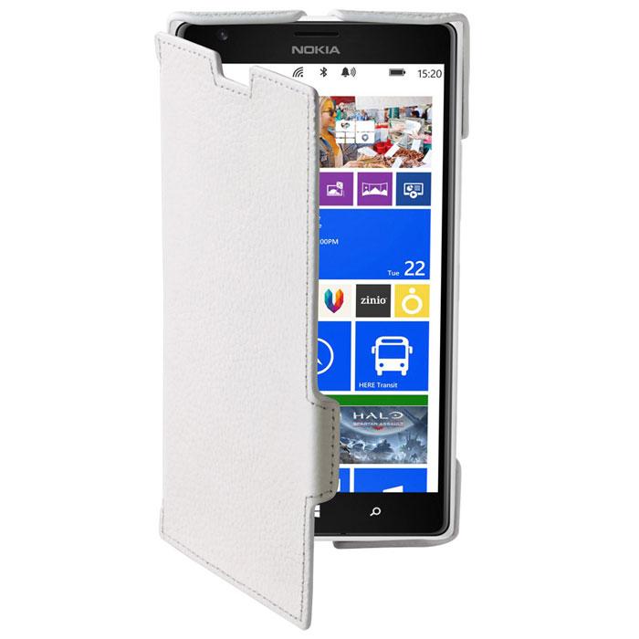 Untamo Alto Book Case чехол для Nokia Lumia 1520, WhiteUALBLUM1520WHТонкий чехол-книжка из натуральной кожи с четким рисунком Untamo Alto Flip Case для Nokia Lumia 1520. Чехол плотно прилегает к смартфону, формируя жесткий каркас с поверхностью из мягкой кожи высочайшего качества. Подкладка из микрофибры обеспечивает дополнительную защиту устройства.